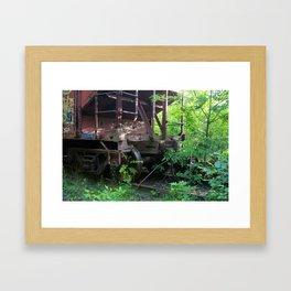 Old Rail Car Framed Art Print