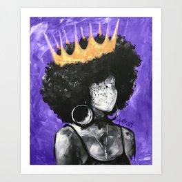 Naturally Queen II PURPLE Art Print