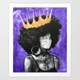 Naturally Queen II PURPLE Art Print