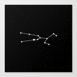 Taurus Star Sign Night Sky Canvas Print