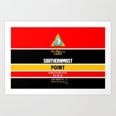Southern Most Point, Key West, Florida/サザン・モスト・ポイント Art Print