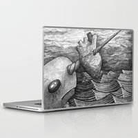 narwhal Laptop & iPad Skins featuring Narwhal by GrimReminders