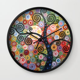 Abstract Art Landscape Original Painting ... Dreaming of Magic Wall Clock