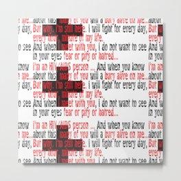 Stop Aids_02 by Victoria Deregus Metal Print