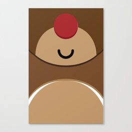 Bear xmas icon Canvas Print