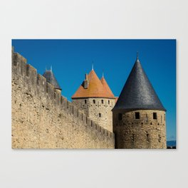 Carcassonne Towers Canvas Print