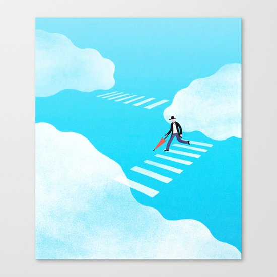 Walking on the sky Canvas Print
