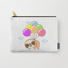 Sloth hanging from balloons Carry-All Pouch
