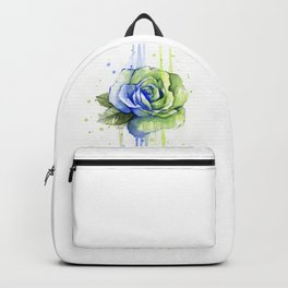 Flower Rose Watercolor Painting 12th Man Art Backpack