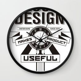 Good designs makes product useful Wall Clock