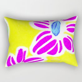 Floral designs from Barcelona -Purple and yellow Rectangular Pillow