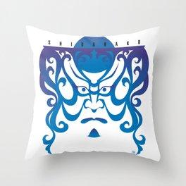 Shibaraku - a Kabuki Portrait Throw Pillow