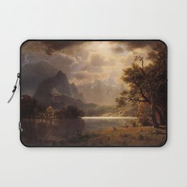 Estes Park Colorado 1869 By Albert Bierstadt | Reproduction Painting Laptop Sleeve