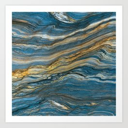 Colorfull stone in section Art Print