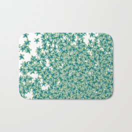 Blue and Yellow Forget Me Knots Bath Mat