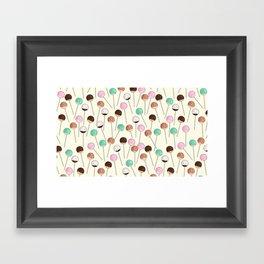 Cake Pop Pattern Framed Art Print