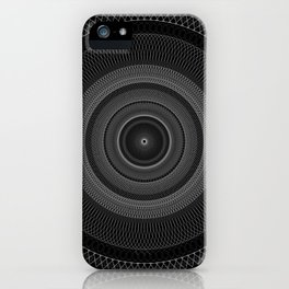 Guilloche in the Dark iPhone Case