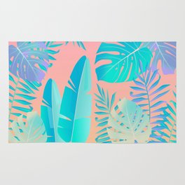 Tropics ( monstera and banana leaf pattern ) Rug