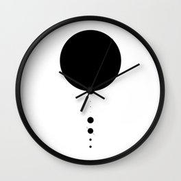 The Solar System (white) Wall Clock