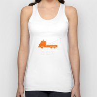 korea Tank Tops featuring Tow truck - Korea by Crazy Thoom