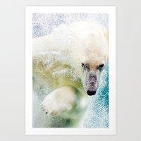 polar bear Art Prints featuring Polar Bear by Pati Designs