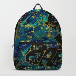 Egyptian  Gold and Marble Voronoi diagram Backpack