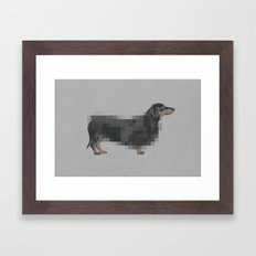 hot dog Framed Art Print