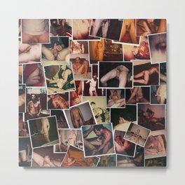 Dirty Polaroids Metal Print