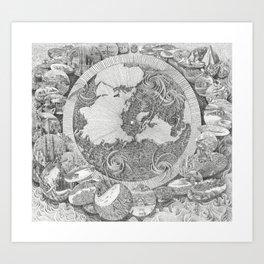 Mappa Mundi (Map of the World) Art Print