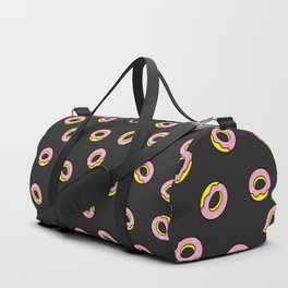 Donuts on Black Duffle Bag
