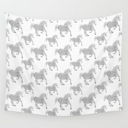 White Horse Pattern Wall Tapestry