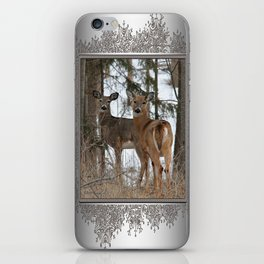 White-Tailed Deer in Winter iPhone Skin