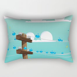 Birds on a Wire Rectangular Pillow