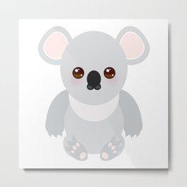 Funny cute koala Metal Print