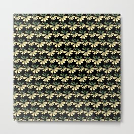 Daisies In The Summer Breeze - Yellow Green Black Metal Print
