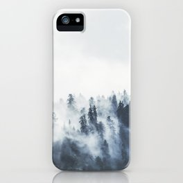 Foggy Forest Calm Landscape iPhone Case