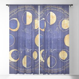 Celestial Atlas :: Lunar Phases Sheer Curtain
