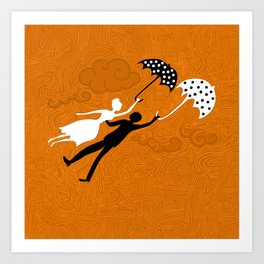 I love you let's fly Art Print