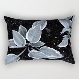 Black and white Rectangular Pillow