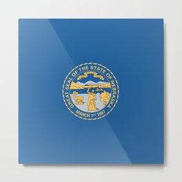 Nebraska State Flag Metal Print