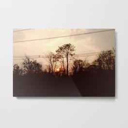 Sideway Sunset Metal Print