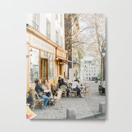 Cafe Montmartre, Paris, France | Traditional French Cafe | Fine Art Travel Photography Metal Print
