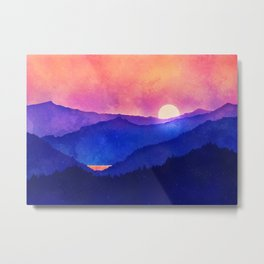 Cobalt Mountains Metal Print