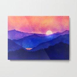 Cobalt Mountains Metal Print