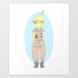 Make Lemonade Art Print