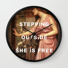 Psyche's Leaving Home Wall Clock