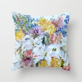 Bountiful floral Throw Pillow