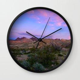 Sunset II - Lake_Mead_National_Recreational_Area, Nevada Wall Clock