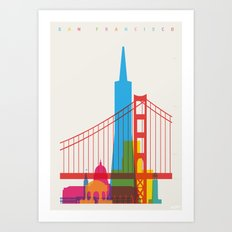 Shapes of San Francisco. Accurate to scale Art Print