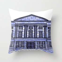 Shrewsbury Museum and Art Gallery, Blue Throw Pillow